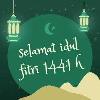 """Gambar bertuliskan """" Selamat Idul Fitri 1441 H """""""