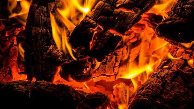 Papel de Parede Fogueira Fogo Carvão