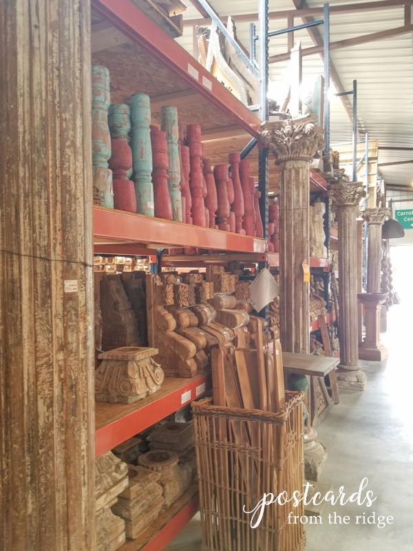 salvage antique wood columns and posts