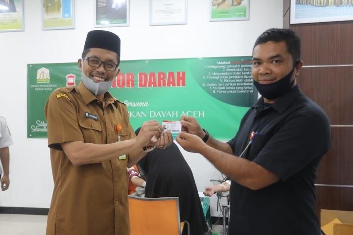 ASN Dinas Dayah Lakukan Donor Darah