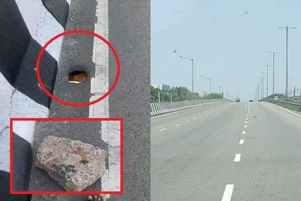 faridabad-bata-chowk-flyover-hole-may-cause-accident-news