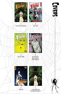 List of covers part 1 of The Shape of Elvira #1 from Dynamite Entertainment