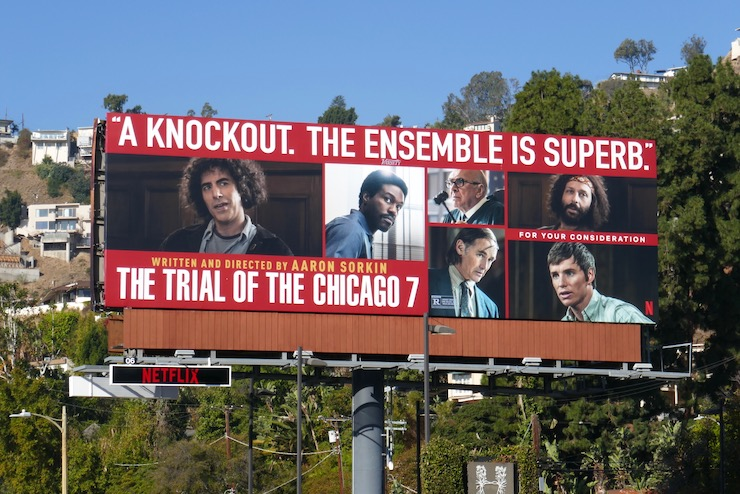 Trial of the Chicago 7 FYC billboard