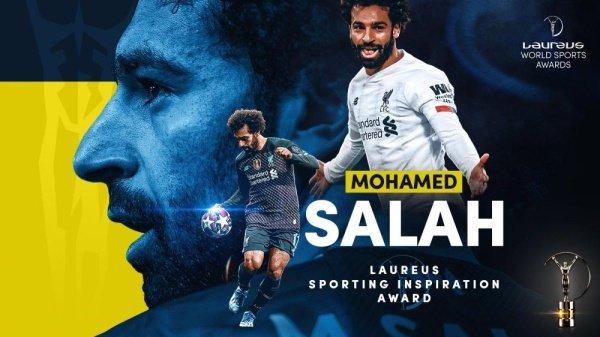 محمد صلاح يتوج بجائزة لوريوس