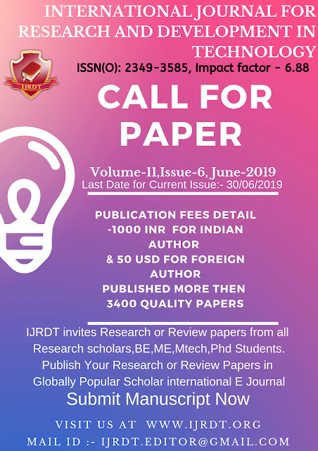 Call for Research or Review paper in IJRDT