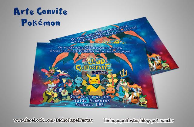 Convite Pokémon