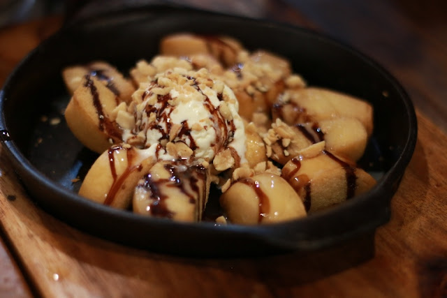 Choco Nut Mantou with Ice Cream