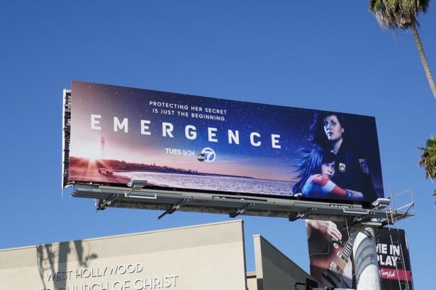 Emergence series premiere billboard
