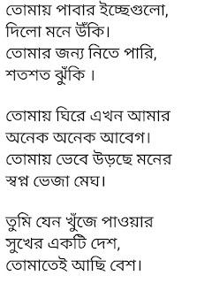 Shopno Bheja Megh Lyrics Minar