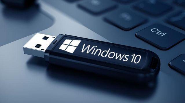 قم, بتشغيل, Windows 10, من, محرك, USB