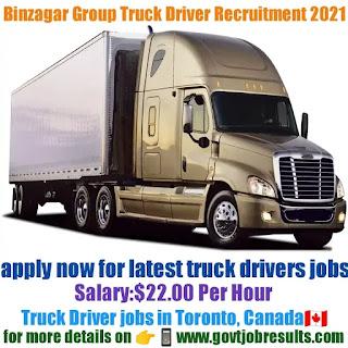 Binzagr Group Truck Driver Recruitment 2021-22