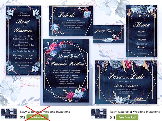 Wedding Invitations Card PSD