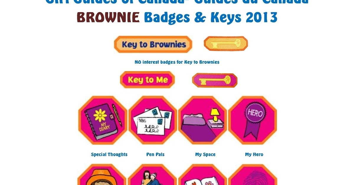 canadian guiding brownie flag clipart