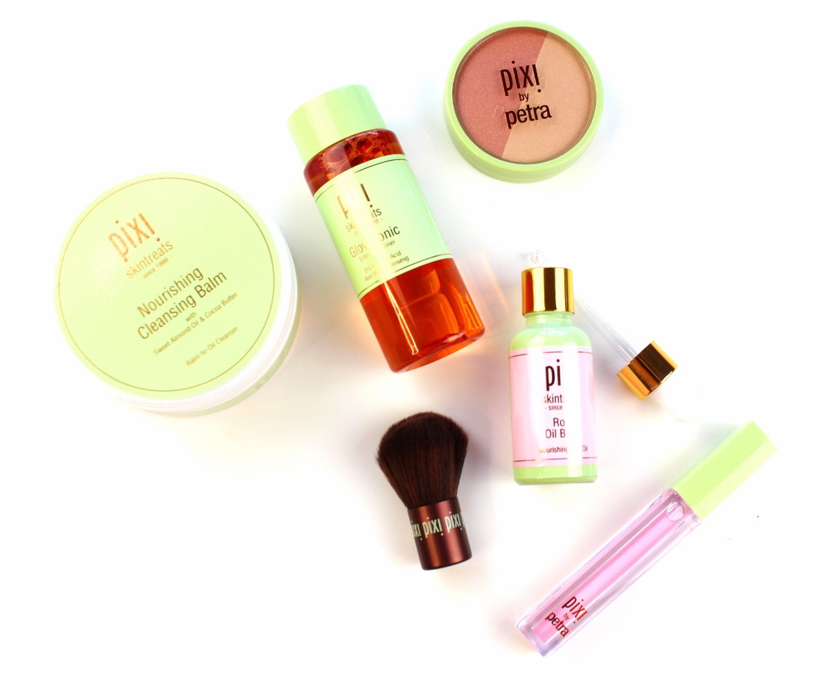 Multiple Pixi Beauty products that work together to cleanse the skin and give it a radiant glow.