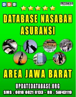Jual Database Nasabah Asuransi Jawa Barat
