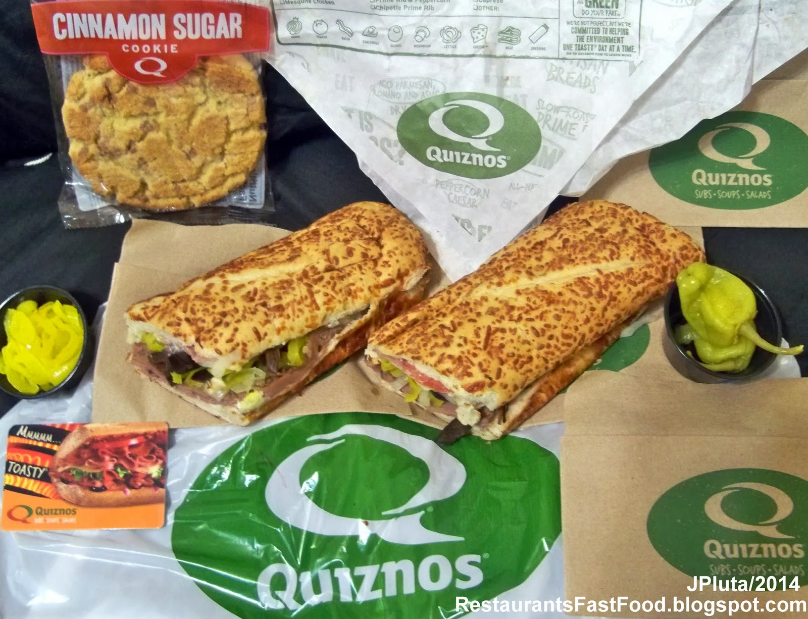 Quiznos crafted sandwiches can be heftier — calorie-wise ...  Quiznos Deli Sub