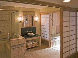 decorar baño japonés