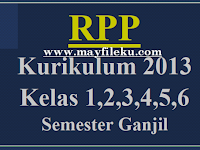 Download RPP K13 Kelas 1,2,3,4,5,6 Semester Ganjil