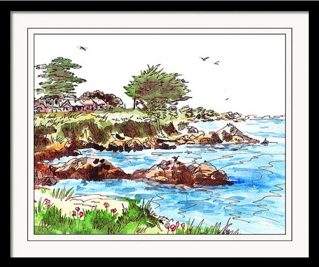 Pacific Ocean plein-air painting