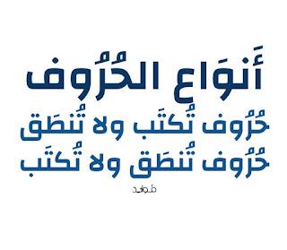 في اللغة العربية حروف ظاهرة لفظا ونُطقا، وهناك حروف تظهر في الخط ولا تظهر في اللفظ، وأيضت هناك حروف تظهر في اللفظ ولكنها لا تُكتب.