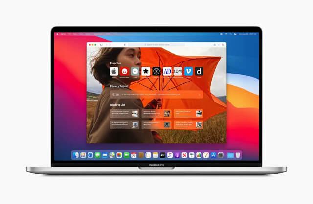 macOS big sur Customization start page