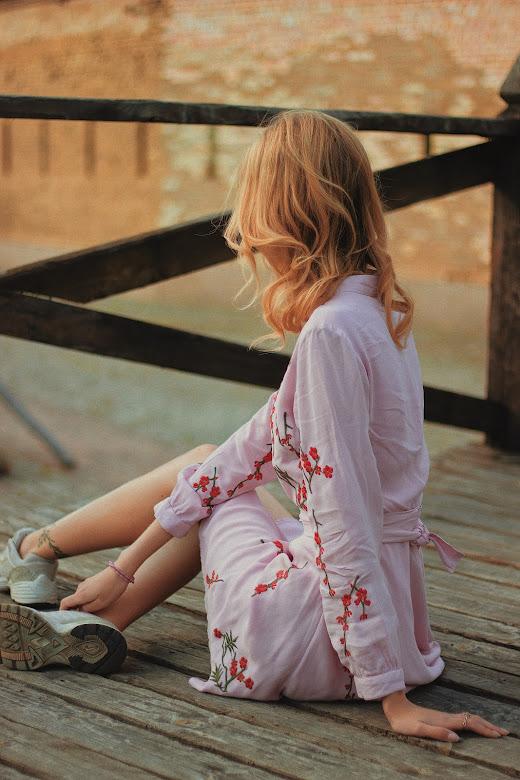 Schuhe zu Kleid in Rosa