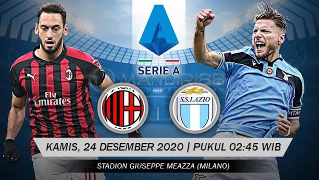 Prediksi AC Milan Vs Lazio, Kamis 24 Desember 2020 Pukul 02.45 WIB @ RCTI