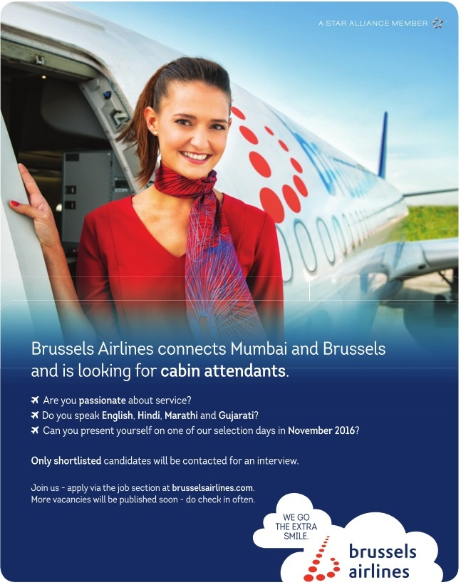 Brussels Airlines Cabin Crew Recruitment In India 2016