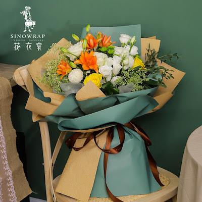 Kertas Buket Bunga / Flower Bouquet Wrapping Paper (Seri XXY-003)