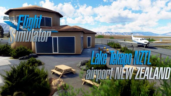 Flight Simulator 2020 - NZTL Lake Tekapo Airport, New Zealand - V.1.1 [4K]