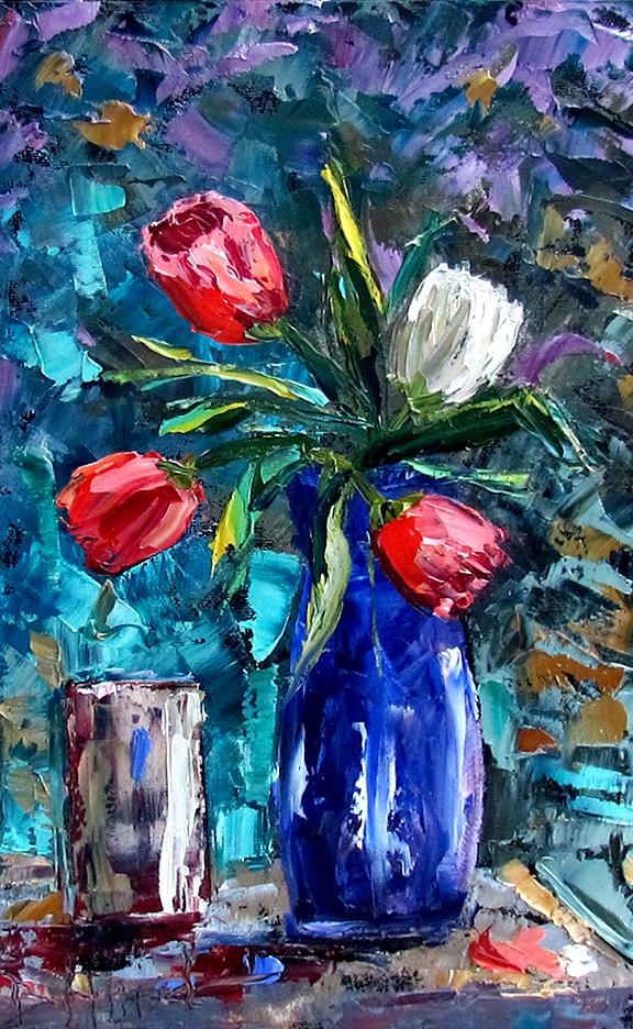 Debra Hurd Original Paintings AND Jazz Art: Floral art ...