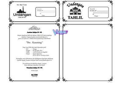 Download Contoh Undangan Tahlil 40, 100, 1000 Hari Dalam Bentuk Kosongan Yang Bisa Diedit Di Microsoft Word (Docx)