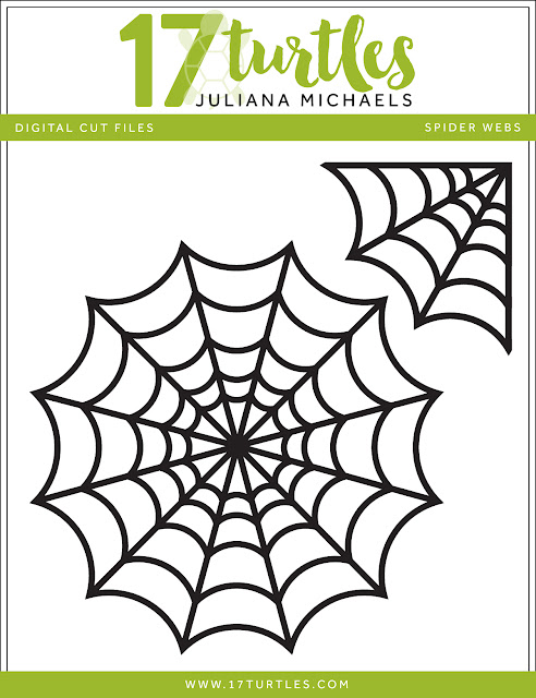 Spider Webs Halloween Free Digital Cut File by Juliana Michaels 17turtles