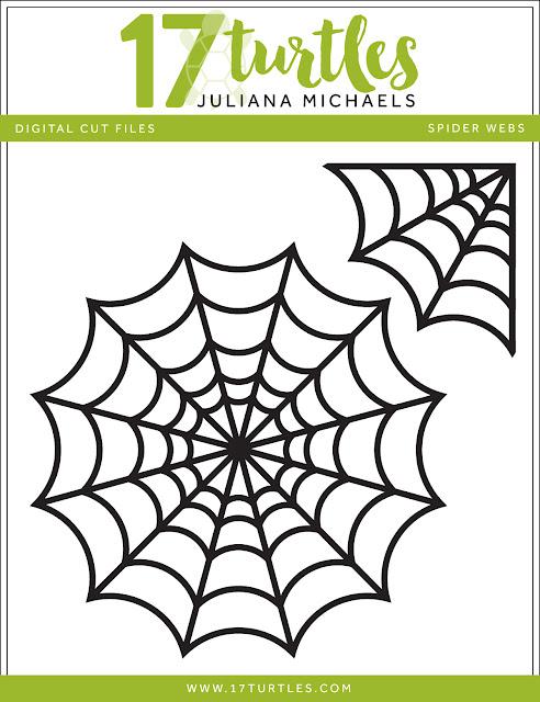 Spider Webs Halloween Free Digital Cut File by Juliana Michaels 17turtles