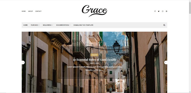 Grace free blogger template