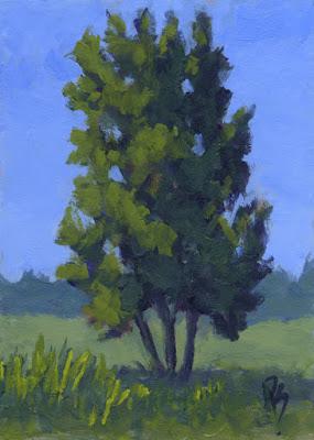 painting art summer green nature tree