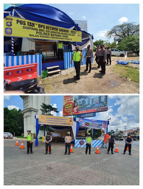 Operasi Ketupat Siginjai 2020, Wadirlantas Polda Jambi Tinjau Pos Pam di Perbatasan Antar Kabupaten dan Kota