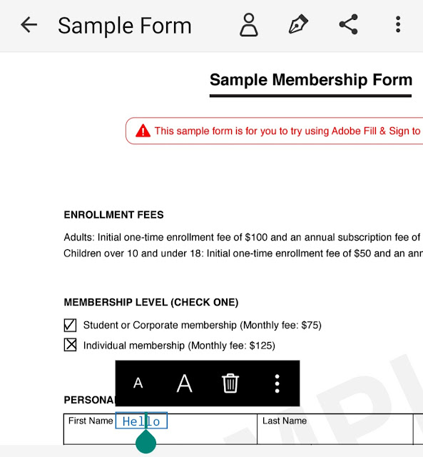 Fill form and sign PDF