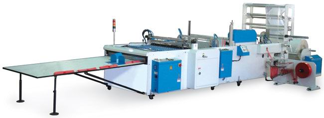 Poly Draw Handle Type Garbage Plastic Bags Making Machine, Piece by piece