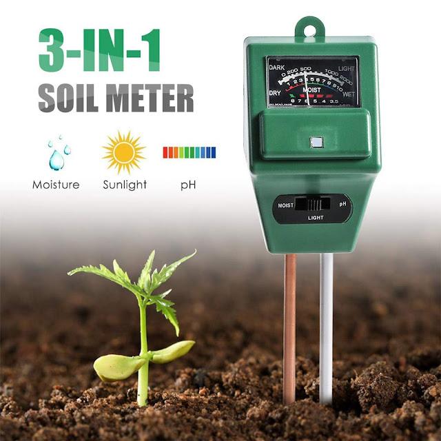 Soil PH Meter,3-in-1 Soil Test Kit