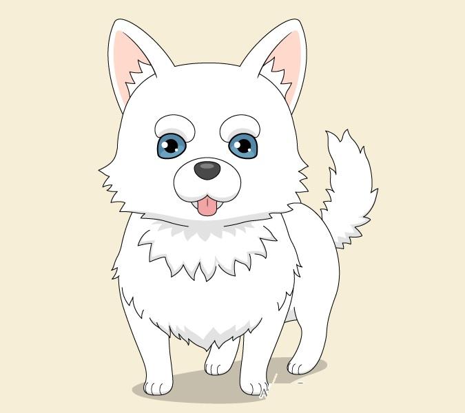 Anjing anime selesai menggambar