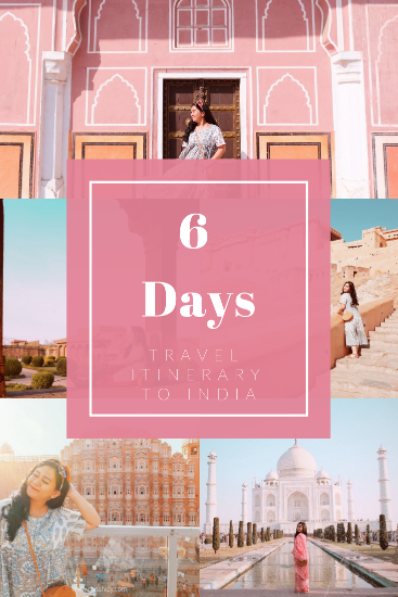 travel itinerary ke india 6 hari