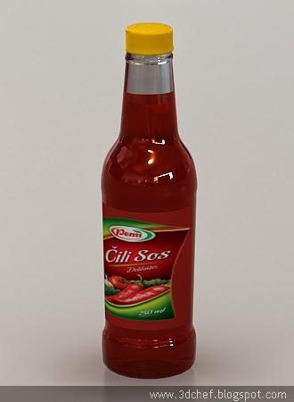 chili sauce bottle 3d model free