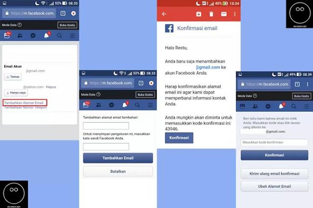 Cara Menggati Email Facebook Melalui Browser di HP #2