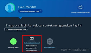 verifikasi akun email paypal