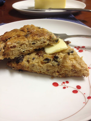 Earl Grey Currant Scones with Lavender and Pecans