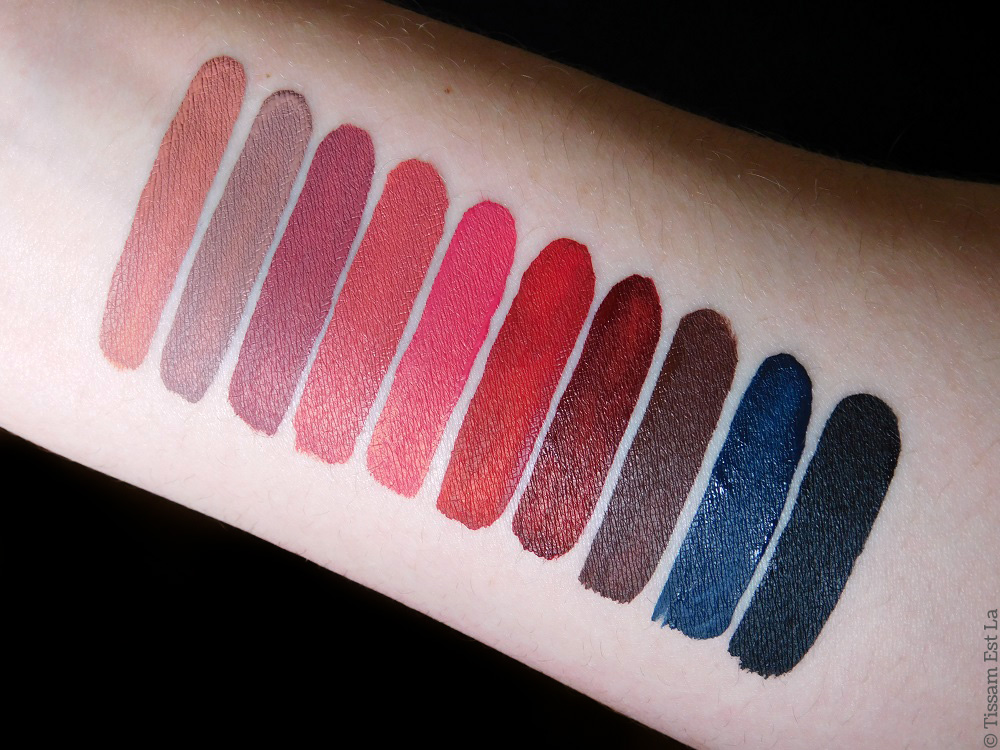 Nabla Cosmetics - Dreamy Matte Liquid Lipsticks - Stronger - Sweet Gravity - Grande Amore - Kernel - Five O'Clock - Narcotic - Black Champagne - Unspoken - Rumors - Swatches & Review - Avis et Revue