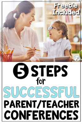 Use these 5 steps to have a successful parent/teacher conference and build a positive rapport that will help lead you to your goals for the student.
