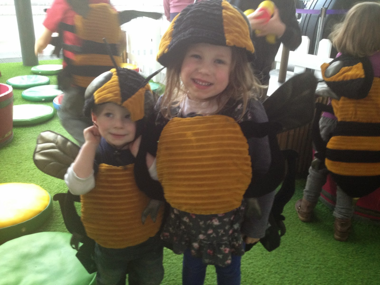 Dressing up as bees At-Bristol