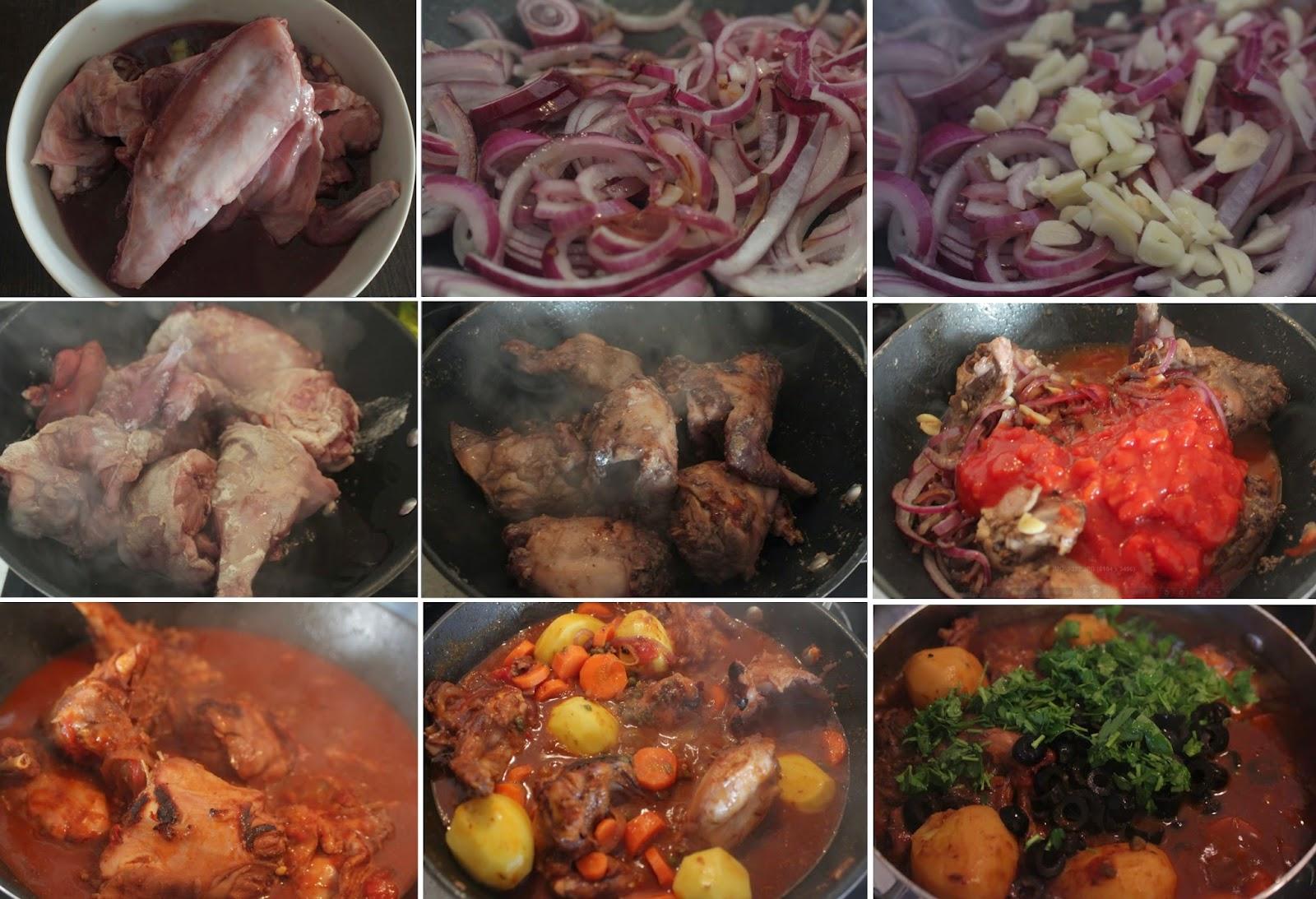 gotowany królik, gulasz z królika, duszony królik, danie główne, jednogarnkowe, wykwintny królik, rabbit stew,